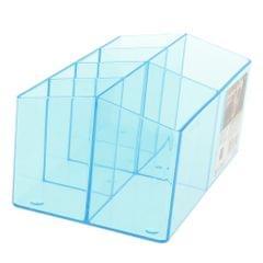 Plastic Cosmetic Organizer Makeup Case Jewelry Storage Holder Box Blue