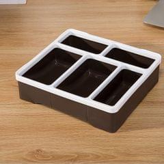 Home Sundries Organizer Desk Remote Control Cosmetic Storage Box Case, Brown