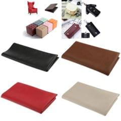 Leather Square Fabric Sheet for DIY Sewing Bag Craft Material 50x50cm Coffee
