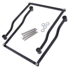 2x Aluminum Alloy Saddlebag Brackets Universal for Harley Crusier - Black