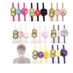 3x Baby Girls Elastic Headband Toddler Flower Headband Newborn Kids Yellow