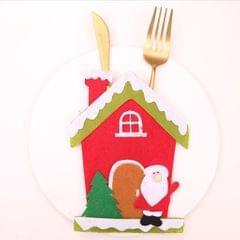Lovely Christmas Placemat Table Cutlery Decor Knife & Fork Santa Cutlery Bag