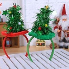 Mini Christmas Tree with Star Headband Green