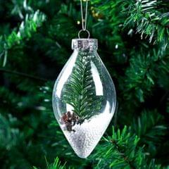 Clear Cone Christmas Ball Pendant Refillable Xmas Bauble Tree Ornament 1