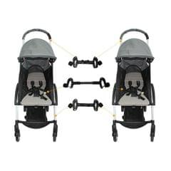 Twin Strollers Connectors for Baby Two Single Strollers Universal Connectors