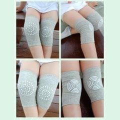 Baby Knee Pad Socks Kids Crawling Elbow Cushion Toddlers Kneepad Leg Warmers Gray