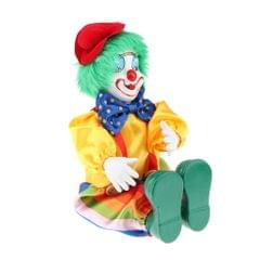Porcelain Small Clown Doll Funny Clown Model Figurines Souvenirs Crafts #E