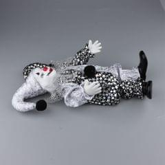 Porcelain Small Clown Doll Funny Clown Model Figurines Souvenirs Crafts #C