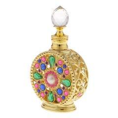 10ml Vintage Glass Empty Perfume Spray Bottle Atomizer Refillable Gold