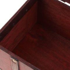 Antique Wooden Jewelry Storage Case Treasure Chest Box Home Table Decor B