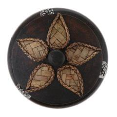 Creative Wooden Ashtray with Lid Thai Style Craft Bussiness Gift Decor Small