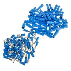 100pcs Fully Insulated Wire Crimp Terminal Quick Connectors Wiring Spade