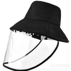 Anti-spitting Hat Removable Transparent Cover Cotton Baseball Cap Black