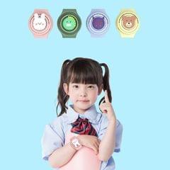 S296 Cartoon Watch Leafless Fan USB Charging Children Wrist Mini Fan(Rabbit)
