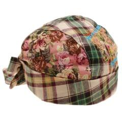 Plaid Printed Pirate Double Layer Infant Baby Kids Hat 6-24Months Cyan