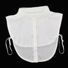 Fake Collar Embroidery Floral Detachable Half Blouse False Collar Bib White