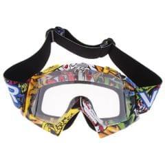 Motocross Snowmobile Snowboard Goggles UV Protector Eyewear Clear