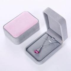 Big Necklace Pendant Bracelet Jewelry Display Storage Box Case Pink and Grey