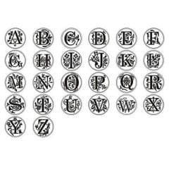 DIY Brass Head 26 Letter A-Z Sealing Wax Stamp Wood Handle Scrapbookinp  A