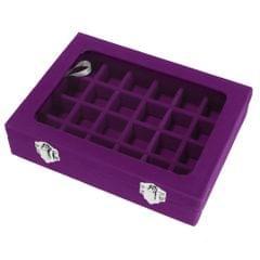 Wooden Velvet Jewelry Necklace Ring Storage Box Case Organizer Gift Purple