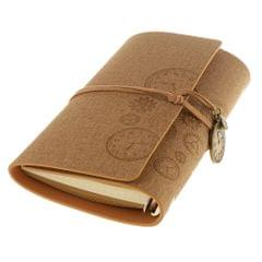 A6 Loose-Leaf Retro Strap Hand Book String Blank Notebook  Khaki
