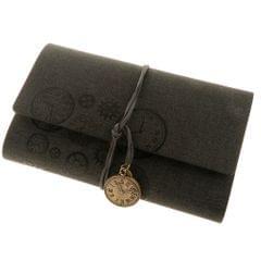 A6 Loose-Leaf Retro Strap Hand Book String Blank Notebook  Black