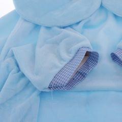 Kids Foldable Sofa Chair Children Cartoon Lounger Bed Slipcover Blue Bear