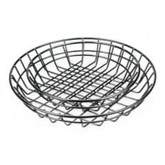 Black Food Basket For Chip Fries & Burger Serving Basket Fruit Bowl L