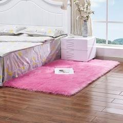 60cmx90cm Sheepskin Fluffy Skin Faux Fur Fake Rug Mat Rugs  Dark Pink