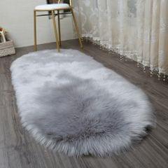 Sheepskin Fluffy Skin Faux Fur Rug Mat Small Rugs 40x60cm Gray