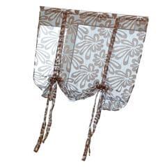 Jacquard Polyester Roman Window Curtain Sheer Voile #3 Coffee 120x160cm