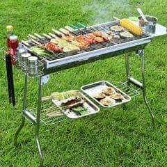 Stainless Steel Barbecue Oven BBQ Grill Charcoal Portable For Camping Picnic