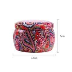 Tinplate Box Cookies Candy Storage Jar for Christmas Wrapping Gifts Flower