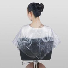 100 Pieces Waterproof Disposable Hair Cutting Cape Gown Hair Cut Capes Apron
