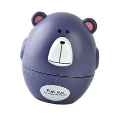 Mechanical Kitchen Cooking Countdown Timer Baking Alarm Clock Purple Bear