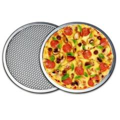 Aluminium Flat Mesh Pizza Screen Oven Baking Tray Net Bakeware 8inch