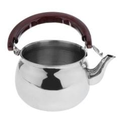 Outdoor Camping Stainless Steel Whistling Kettle Kitchen Tea Pot Silver 4.7L