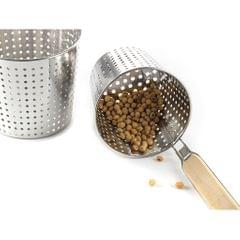 Kitchen Noodle Strainer with Hook, Stainless Steel, Deep Fry Basket  12cm