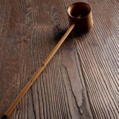 Handmade Bamboo Spoon Water Dipper with Handle Scoop Spoon L