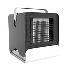 Mini Portable Air Conditioner Fan USB Air Cooler Fan with LED Lights Black