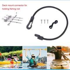 3 Set 15'' Boat Fishing Rod Tamer Strap Saver Holder Elastic Rope Kayak Tool