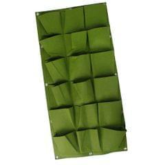 18 Pocket Hanging Vertical Yard Wall Planter Bag Indoor/Outdoor Herb Pot GRN