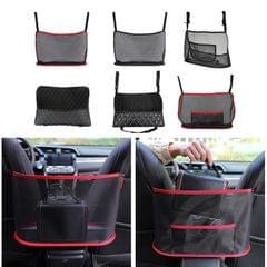 Car Net Pocket Handbag Holder Nylon Between Car Seat Storage Black