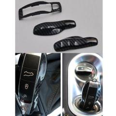 3pcs Carbon Fiber Color FOB Remote Key Case Shell for Porsche/Boxster/Cayman