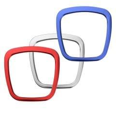Car Steering Wheel Emblem Logo Trim Ring for Audi A4 B6 B7 B8 A3 NEW Silver