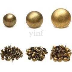 100 xAntique Upholstery Tacks Nails Furniture Decor Bronze Stud Pins 7x10 mm