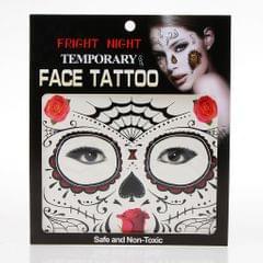 Halloween Waterproof Temporary Eye Tattoo Face Stickers Kit Red design 4