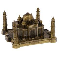 World Famous Landmark Home Ornament Gift Metal Statue Figurine Taj Mahal