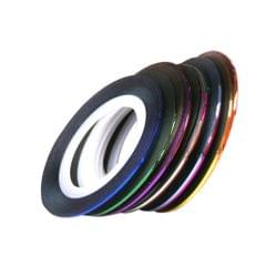 Rolls Striping Tape Line Nail Art Tips Decoration Sticker 30pcs Mixed Colors