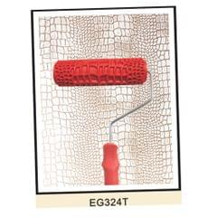 """7"""" Embossed Crocodile Skin Painting Roller with Handle for Wall Decora"""